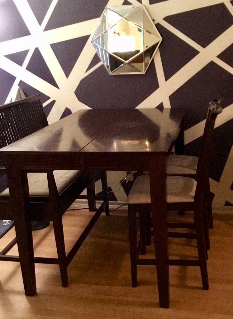 Expandable Counter Height Brown Wooden Table With Two Chairs And Storage  Bench Dining Set