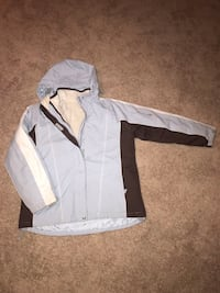 Heavy winter jacket with removable fleece lined jacket and removable hood size large Franksville, 53126