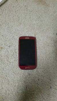 Red AT&T samsung galaxy s 3