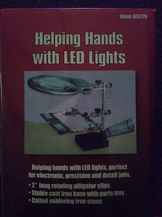 helping hands with led lights box