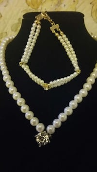 FASHION PEARL/RHINESTONE NECKLACE AND BRACELET Pearl City, 96782