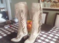 Boots velour and leather size 38 Mascouche, J7K 1S7