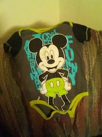baby's gray, white, and black Mickey Mouse onesie Altoona, 16601