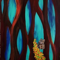 Sweet Nectar painting one of a find 29x24 acrylic on canvas. Montebello, 90640