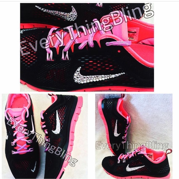 new arrival e56d7 58afd Used Swarovski BLING Nike Free- On Sale!  85.00- Women s shoe size 7 for  sale in Beaumont - letgo