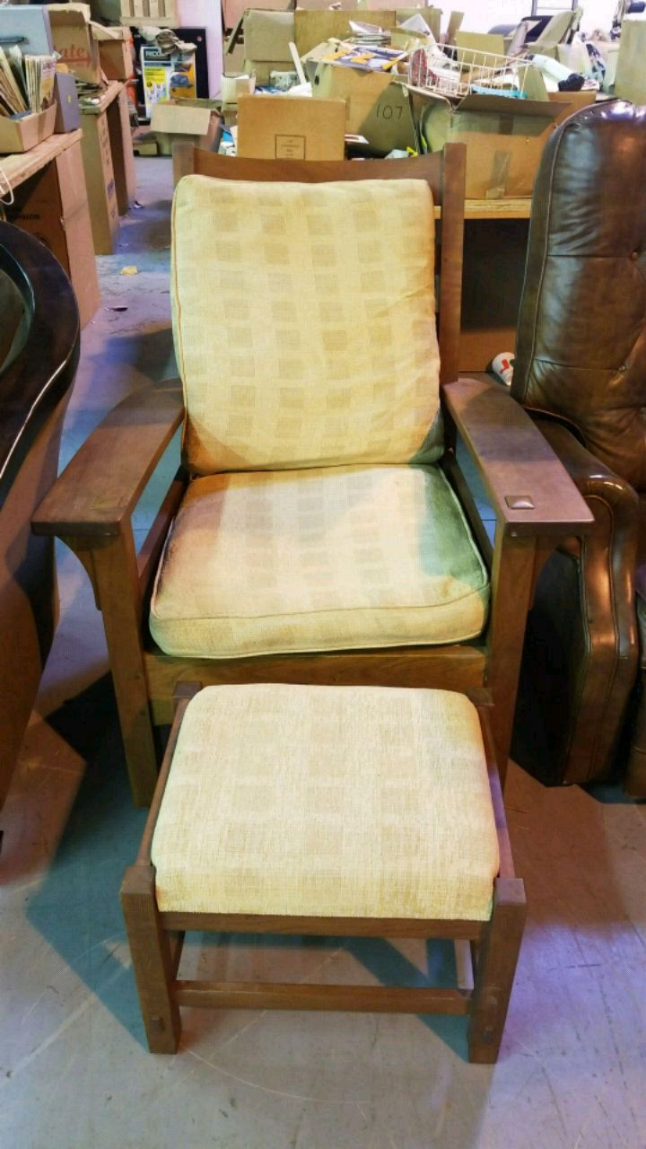 Stickley Chair And Ottoman