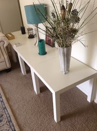 Square white and black side tables Valparaiso, 46383