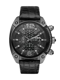 NEW Diesel Men's DZ4372 Overflow Analog Quartz Leather Watch  548 km