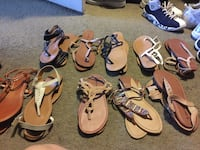 Sandals size 9 all of them for 50 dollars