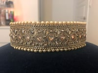 NEW Gold & Pearl Indian Choker Necklace  Markham, L3R
