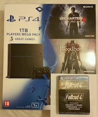 New PS4 1TB comes with 3 great Games  Greater London, E12 6JD