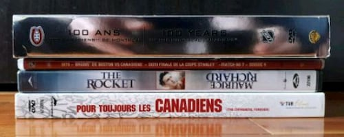 Films hockey Canadiens Montreal DVD movies