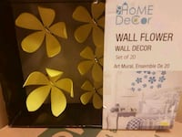 Wall flowers wall decor. Whitby, L1N 8X2