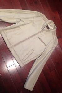 Leather beige coat Oscar Leopold