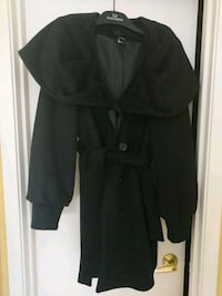 Button-up, Wool Coat with cowl-like neck