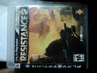 Resistance 2 PS3 game case