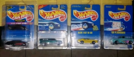 lot of 5 vintage hot wheels cars