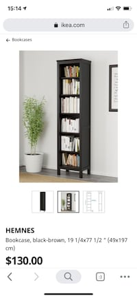 2 bookcases, black brown - great condition. $65 each. Mississauga, L5L 4L3