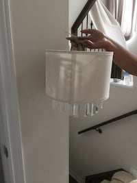 White Sheer Circular light fixture Vaughan, L6A