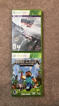 Minecraft and Need for Speed: Rivals for Xbox 360 Dumfries, 22025