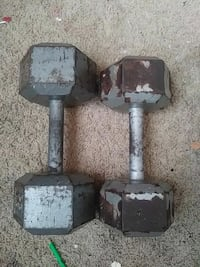 pair of gray fixed weight dumbbells Sacramento, 95815