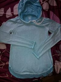 Girls 14 Blue Long Sleeve Top with Hood