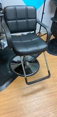 Black leather styling chair (set of 2) Nashville