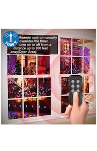 Wireless Outdoor Remote Control Outlets with Timer and Sensor Function