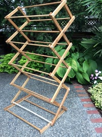 Folding Wooden 3 position drying rack  Langley, V3A 1R2