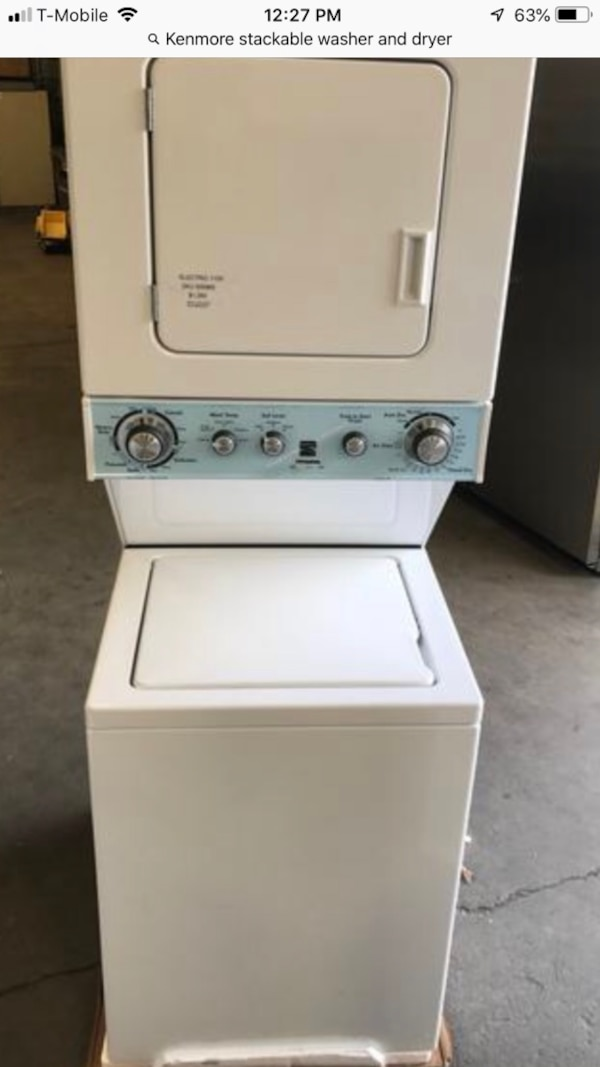 6 Months Old 24 Kenmore Stackable Washer And Dryer