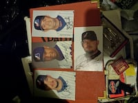 four autographed baseball trading cards 801 km