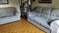 Grey fabric couch 2 piece Montreal, H1E 2K2