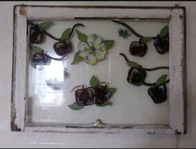 Hand painted old window