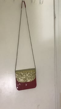 glittered red and gold-colored leather crossbody bag Sault Ste. Marie, P6B 5H5