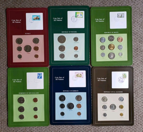 Collection of 1970s-1990s World Nations Coin Sets