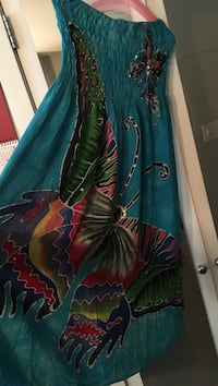 Blue sequined butterfly tube top summer dress from Cabo Mexico Vancouver, V6B 0B9
