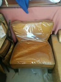 brown leather sofa chair with ottoman 2295 mi