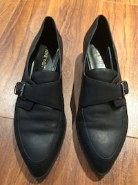Nine West Leather Loafer - black, size 9 Burlington
