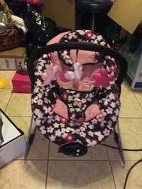 Black and pink floral baby bouncer Woodbridge, 22193