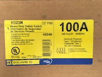 Sq D 100a 240v heavy duty safety switch Wilmington