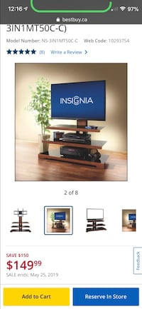 Tv stand, 1 year old  Oakville, L6L 0M9