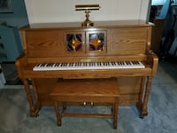 Oak Cabaret Player Piano (electric and manul)