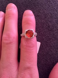 Sterling silver ring, center Citrine inspired AAA Cubic Zirconia Edmonton, T6J 5S8