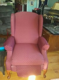pink fabric sofa chair with ottoman Eugene, 97404