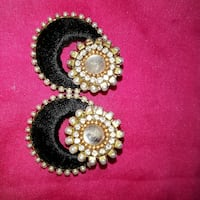 women's pair of gold and black silk thread earrings Ahmedabad, 382440