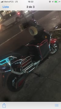 black and blue touring motorcycle Nueva York, 11435
