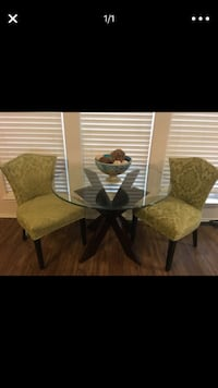 two brown wooden framed brown padded chairs Burleson, 76028