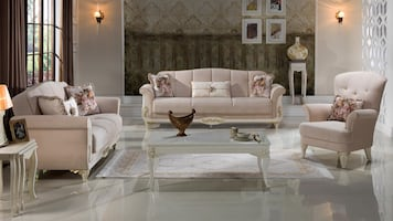 NEW 4 PCS ISTIKBAL LIVING ROOM SET PLUSH ! FREE DELIVERY