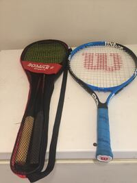 2 badminton rackets $10 (1 tennis racket $5 sold )