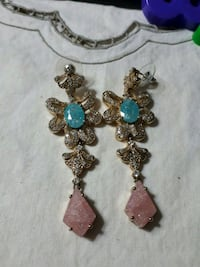 pair of gold-colored dangling earrings Burnaby